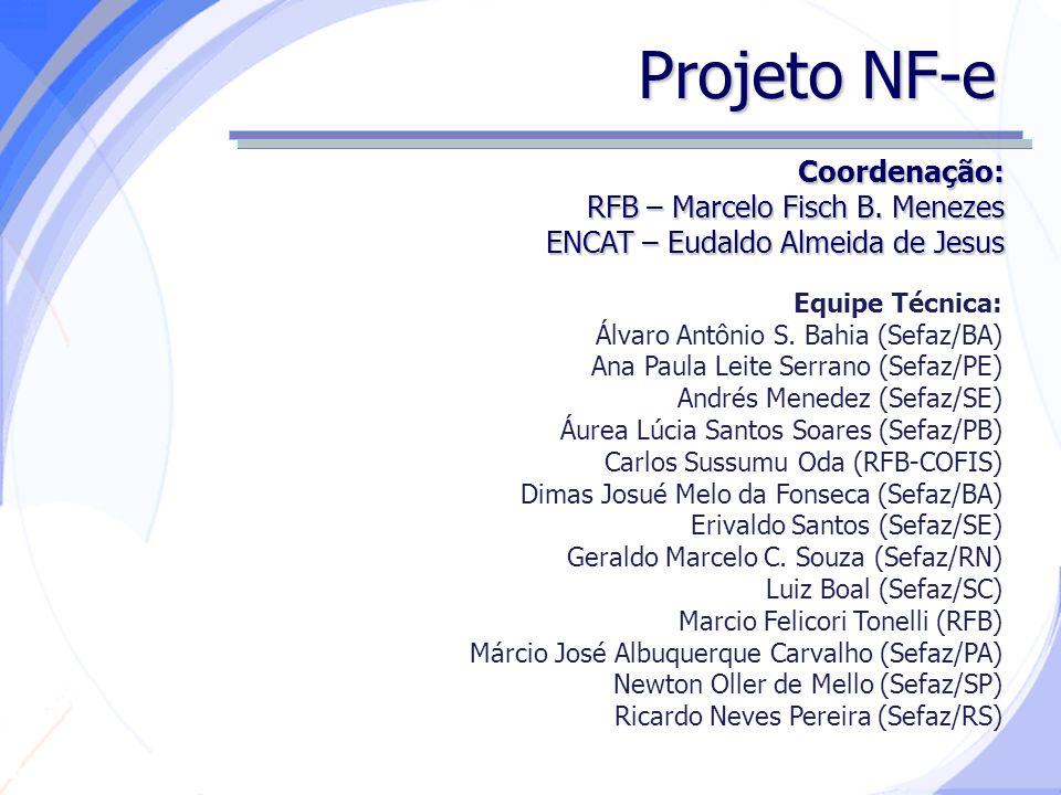 Secretaria da Fazenda Projeto NF-e Coordenação: RFB – Marcelo Fisch B.