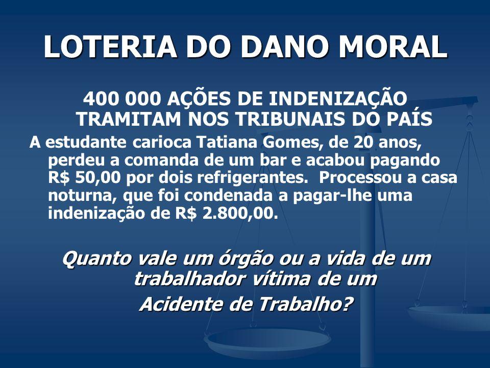 LOTERIA DO DANO MORAL 400 000 AÇÕES DE INDENIZAÇÃO TRAMITAM NOS TRIBUNAIS DO PAÍS A estudante carioca Tatiana Gomes, de 20 anos, perdeu a comanda de u