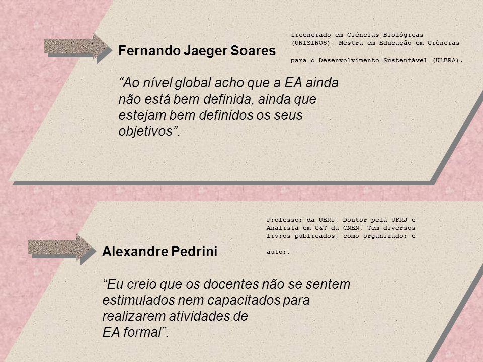Fernando Jaeger Soares Ao nível global acho que a EA ainda não está bem definida, ainda que estejam bem definidos os seus objetivos.