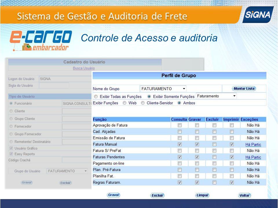 Controle de Acesso e auditoria