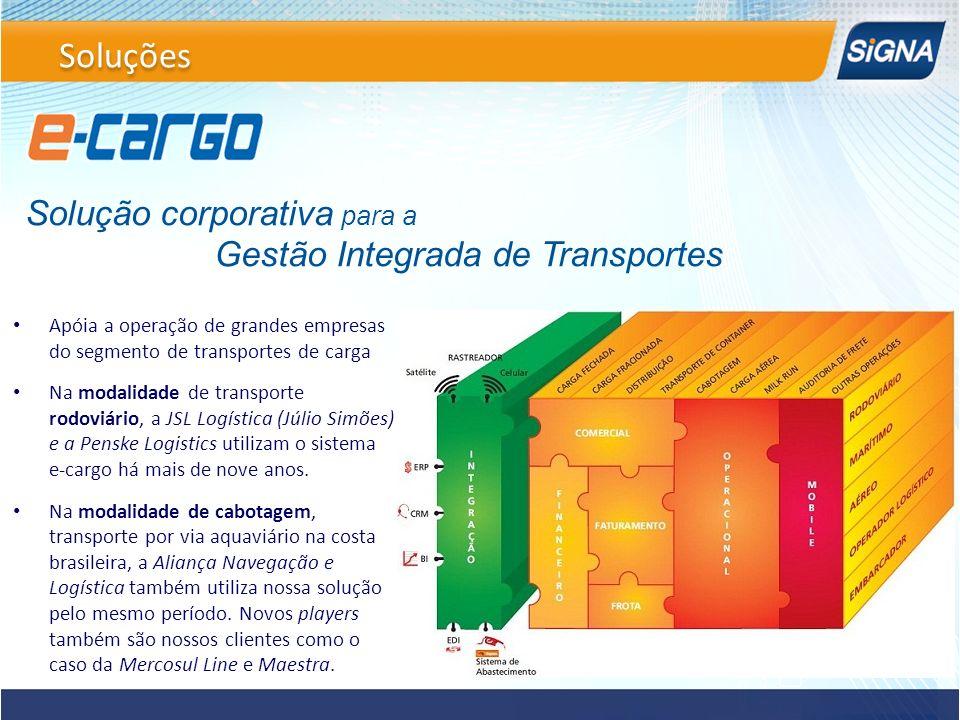 Solução corporativa para a Gestão Integrada de Transportes Apóia a operação de grandes empresas do segmento de transportes de carga Na modalidade de t