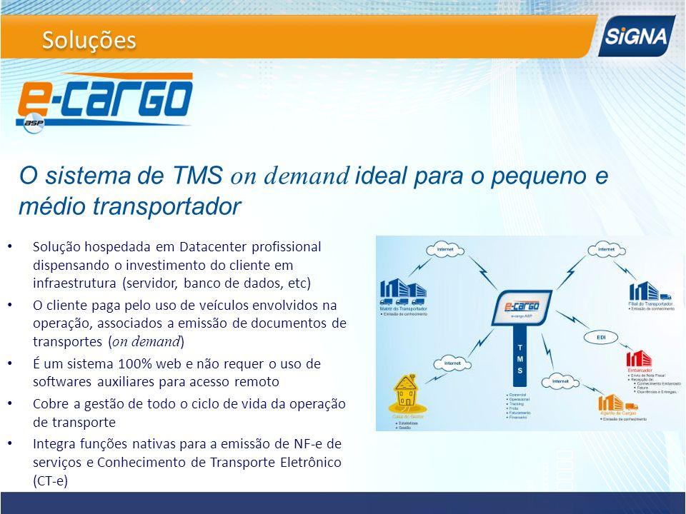 Solução hospedada em Datacenter profissional dispensando o investimento do cliente em infraestrutura (servidor, banco de dados, etc) O cliente paga pe