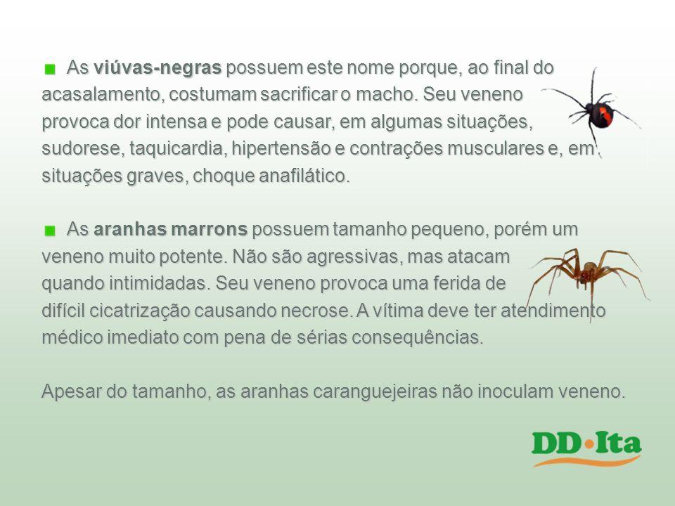 As viúvas-negras possuem este nome porque, ao final do acasalamento, costumam sacrificar o macho. Seu veneno provoca dor intensa e pode causar, em alg