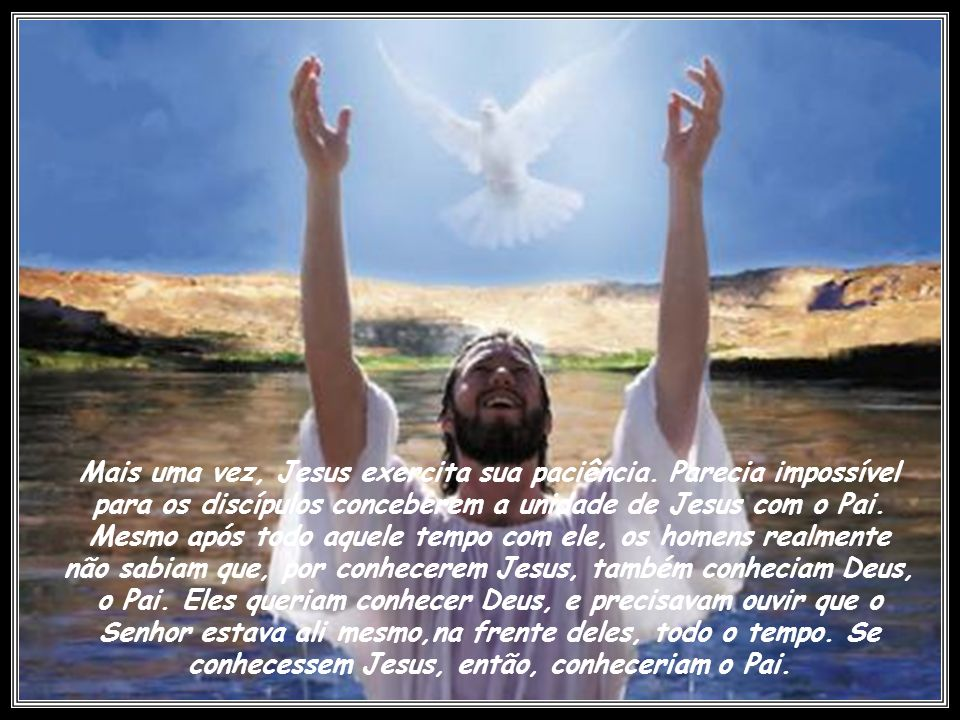 Jesus Cristo, ao declarar-se o pão da vida, quer expressar que a real e verdadeira satisfação, realização e felicidade do homem estão somente nele.