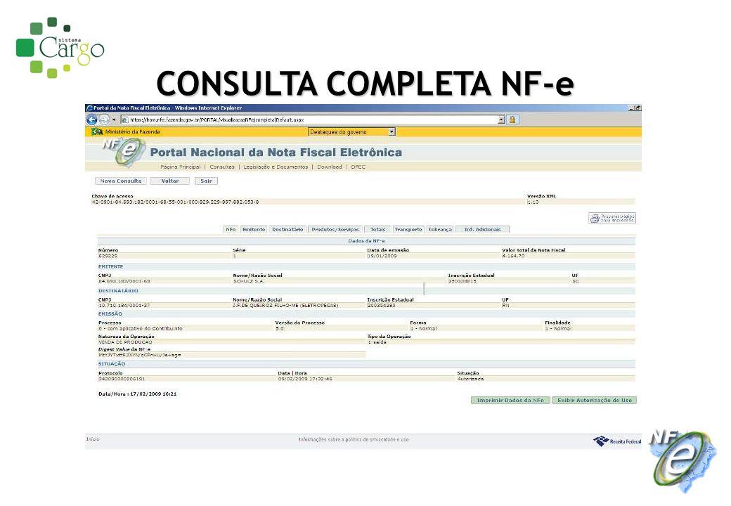 CONSULTA COMPLETA NF-e