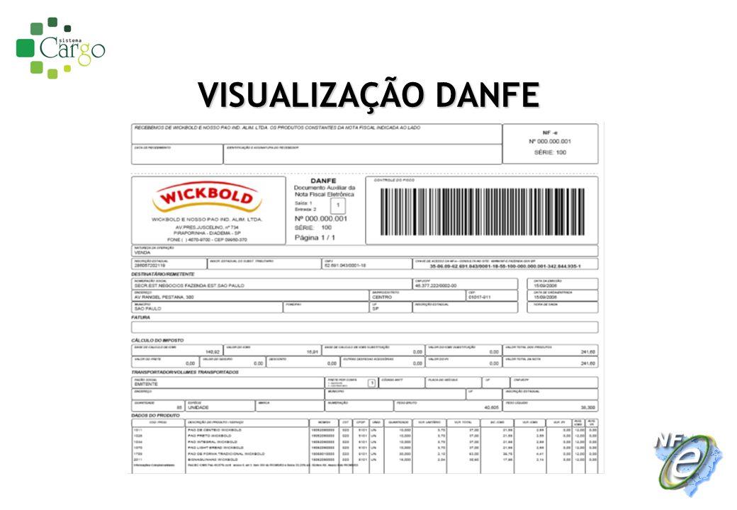 PROCESSO DE EMISSÃO DE NF-E NORMAL Autoriza NFe 2 XML XML assinado Fazenda de origem Solicita autorização NFe 1 Transporta mercadoria 4 Posto Fiscal Valida DANFE 5 CLIENTE Valida NFe 7 Emite DANFE 3 Recebe mercadoria+DANFE 6 Receita Federal Transmite NFe .