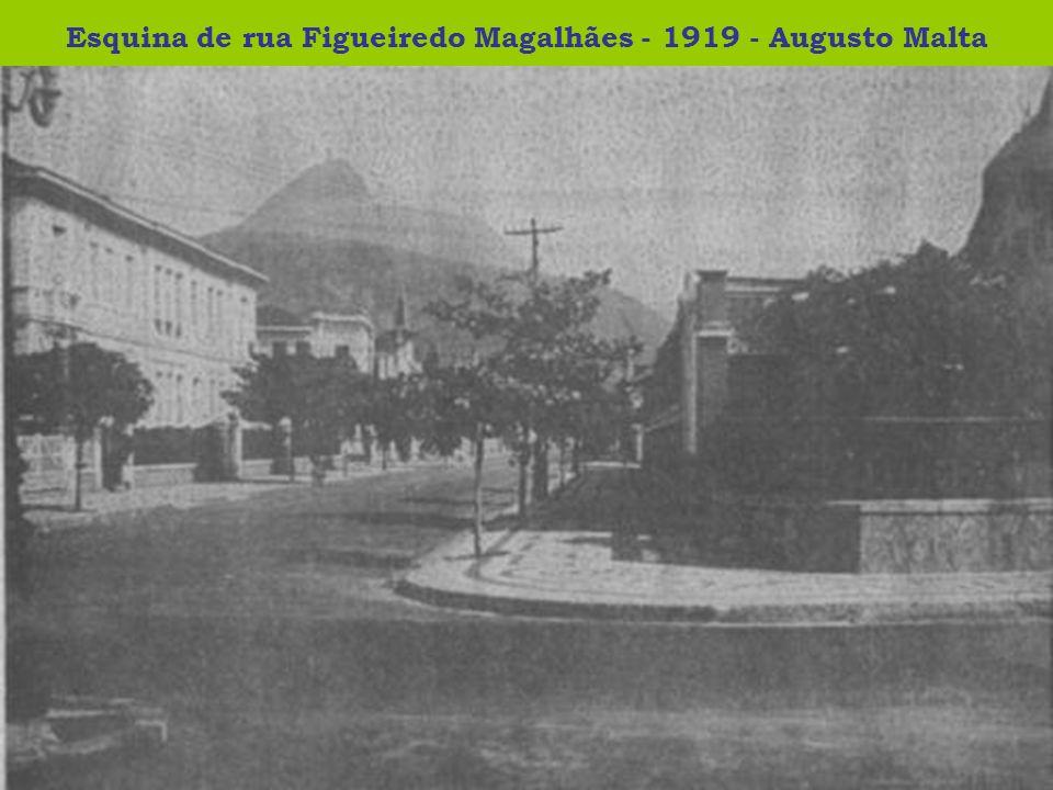 Esquina de rua Figueiredo Magalhães - 1919 - Augusto Malta