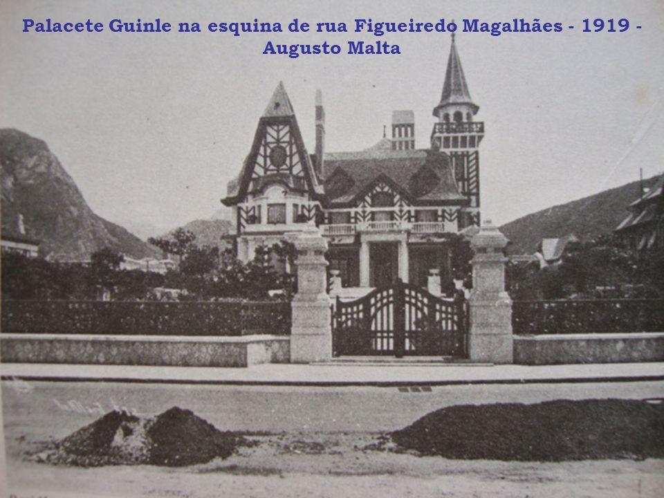 Palacete Guinle na esquina de rua Figueiredo Magalhães - 1919 - Augusto Malta