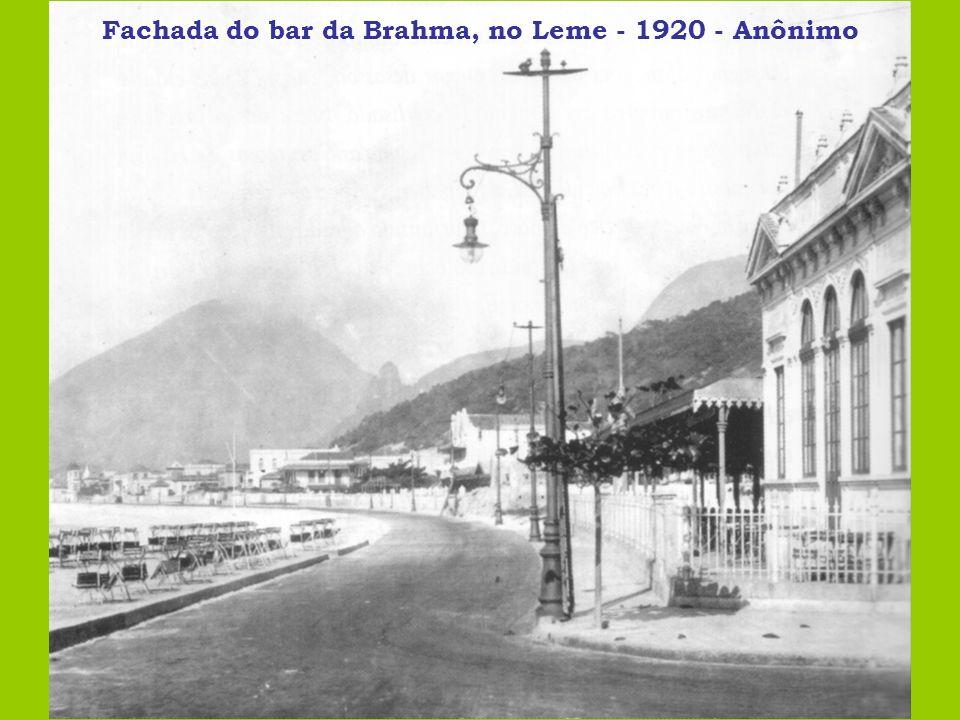 Fachada do bar da Brahma, no Leme - 1920 - Anônimo