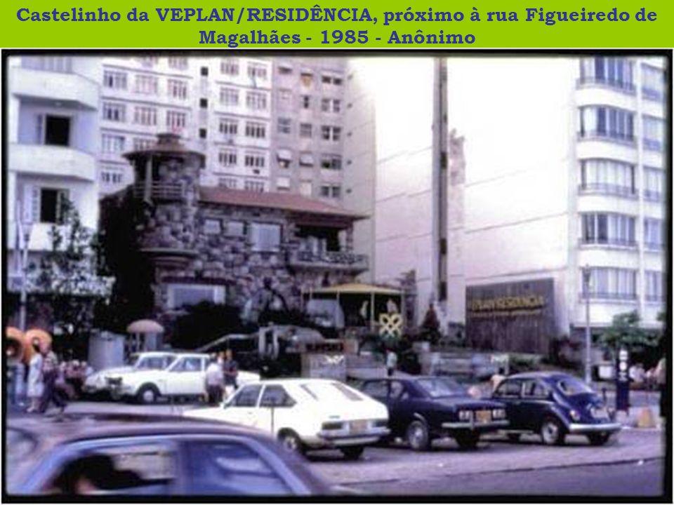Castelinho da VEPLAN/RESIDÊNCIA, próximo à rua Figueiredo de Magalhães - 1985 - Anônimo