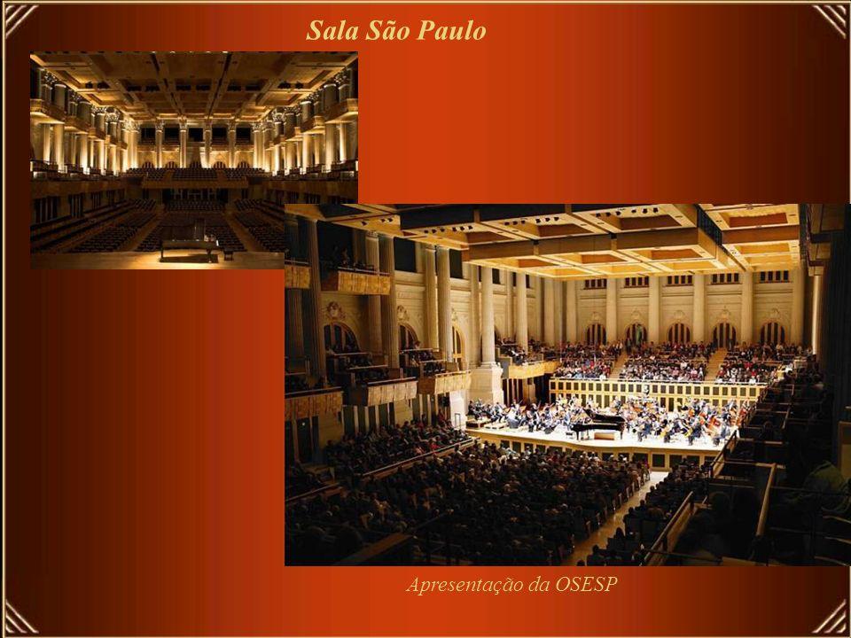 Sala São Paulo, antiga estação da Estrada Ferro Sorocabana Local de apresentação da OSESP-Orquestra Sinfonica do Estado de São Paulo