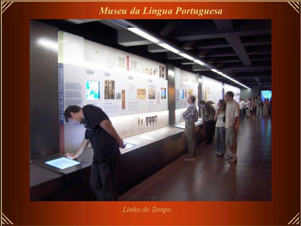 Tótens interativos Museu da Lingua Portuguesa