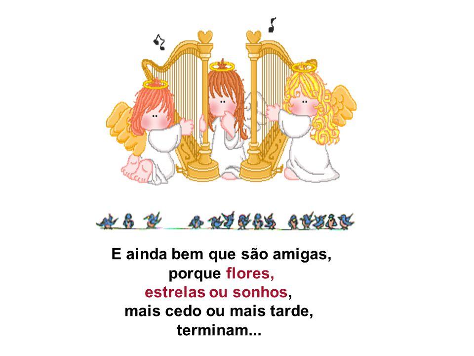 E ainda bem que são amigas, porque flores, estrelas ou sonhos, mais cedo ou mais tarde, terminam...