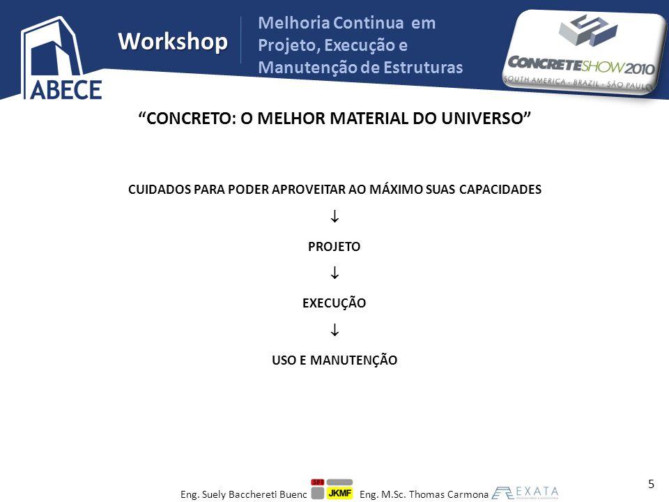 Workshop Melhoria Continua em Projeto, Execução e Manutenção de Estruturas FALHAS DE EXECUÇÃO 26 Eng.