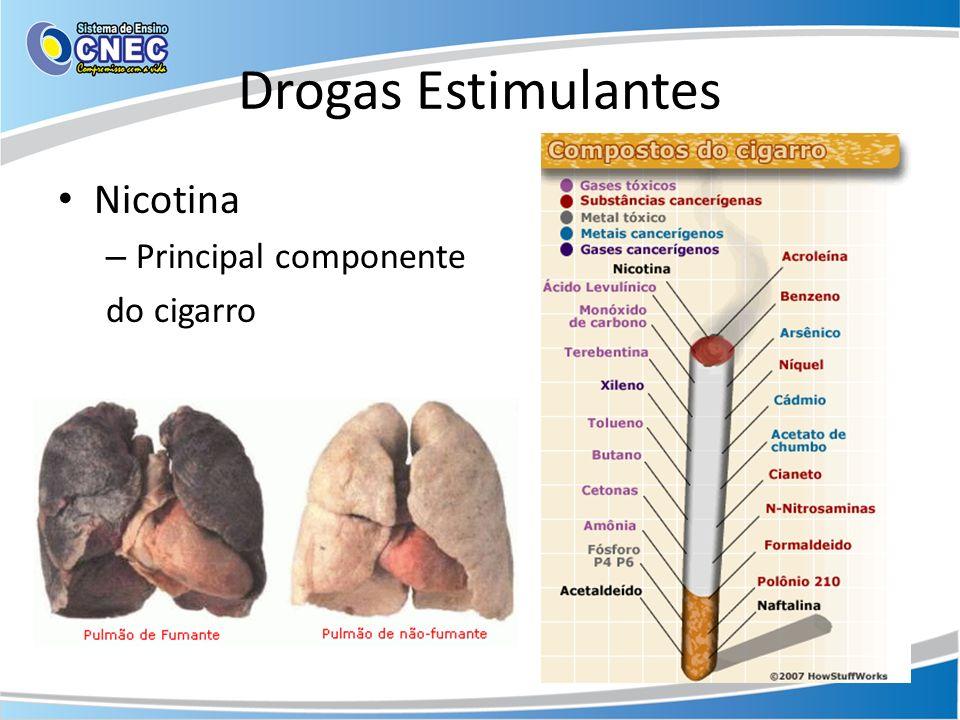 Drogas Estimulantes Nicotina – Principal componente do cigarro