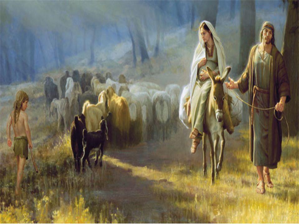 Uma noite, na hora de dormir, Maria teve a visão do Anjo Gabriel, que envolto numa névoa prateada, lhe disse: Ave Maria, cheia de graça, o Senhor é contigo, bendita és tu entre as mulheres. Ela cruzou as mãos, e sentiu que todo o seu corpo tremia.