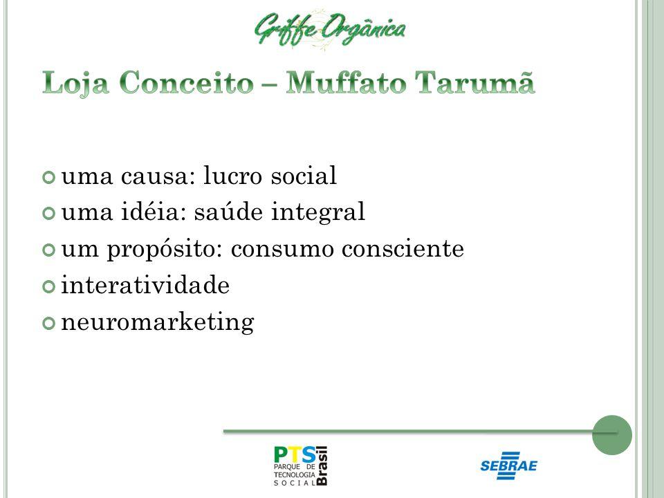 uma causa: lucro social uma idéia: saúde integral um propósito: consumo consciente interatividade neuromarketing