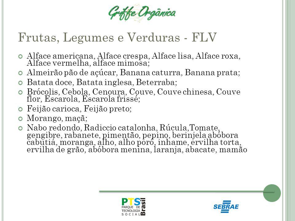 Frutas, Legumes e Verduras - FLV Alface americana, Alface crespa, Alface lisa, Alface roxa, Alface vermelha, alface mimosa; Almeirão pão de açúcar, Ba