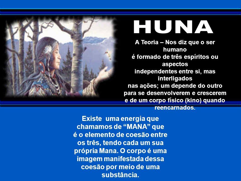 NA PRÁTICA temos entre outros elementos, a PRECE AÇÃO (uma maneira de rezar/orar – ao Eu Superior (Aumakua), por intermédio do Eu Básico (Uhinipili).