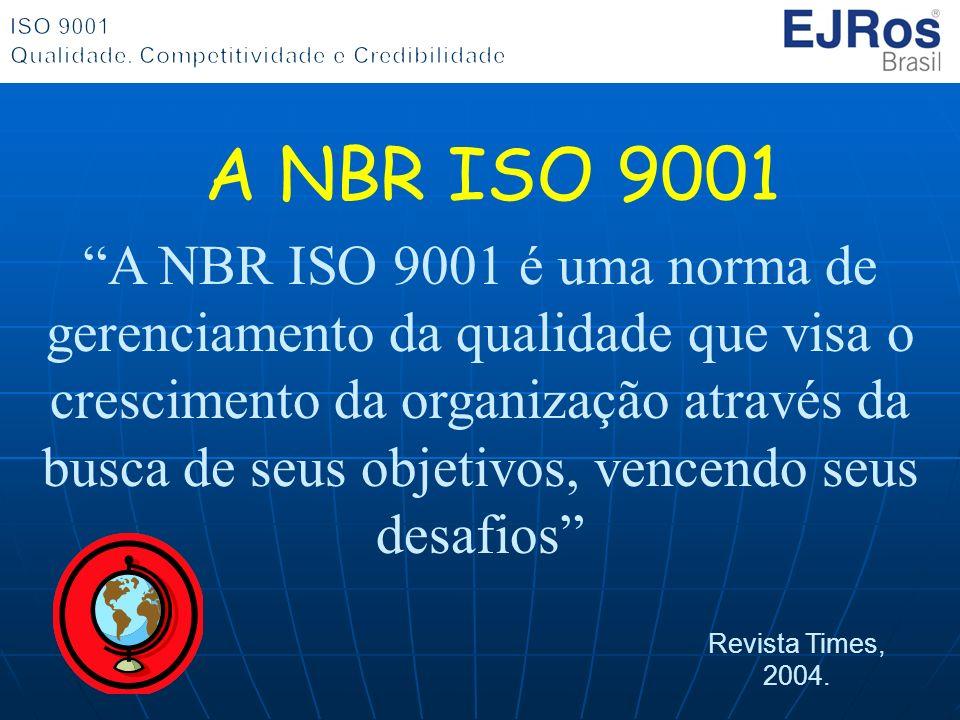 A NBR ISO 9001 é uma norma de gerenciamento da qualidade que visa o crescimento da organização através da busca de seus objetivos, vencendo seus desaf