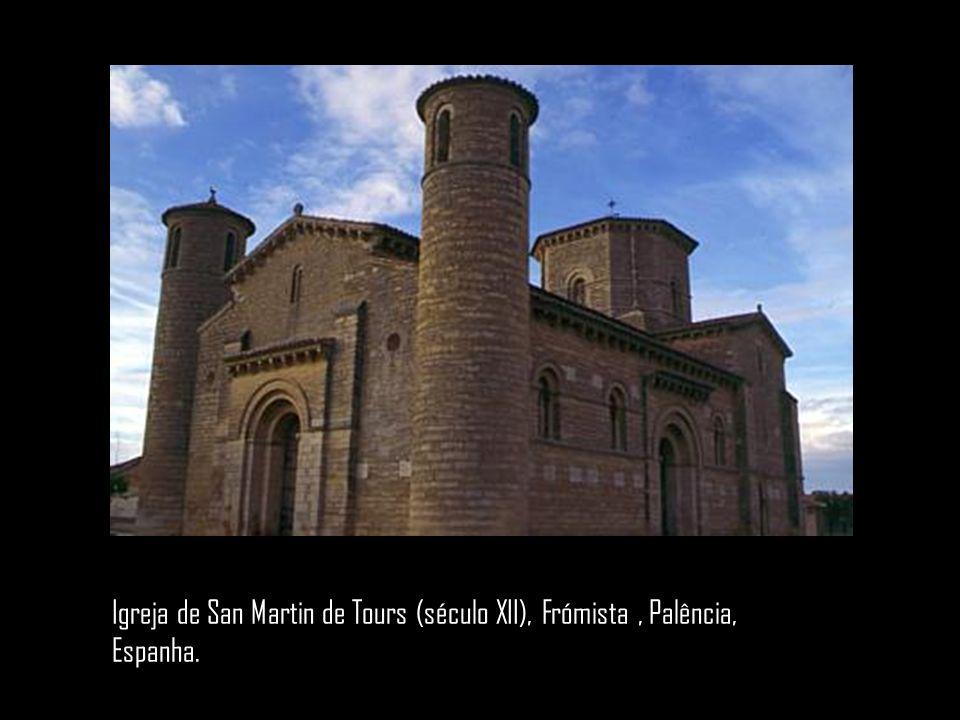 Igreja de San Martin de Tours (século XII), Frómista, Palência, Espanha.