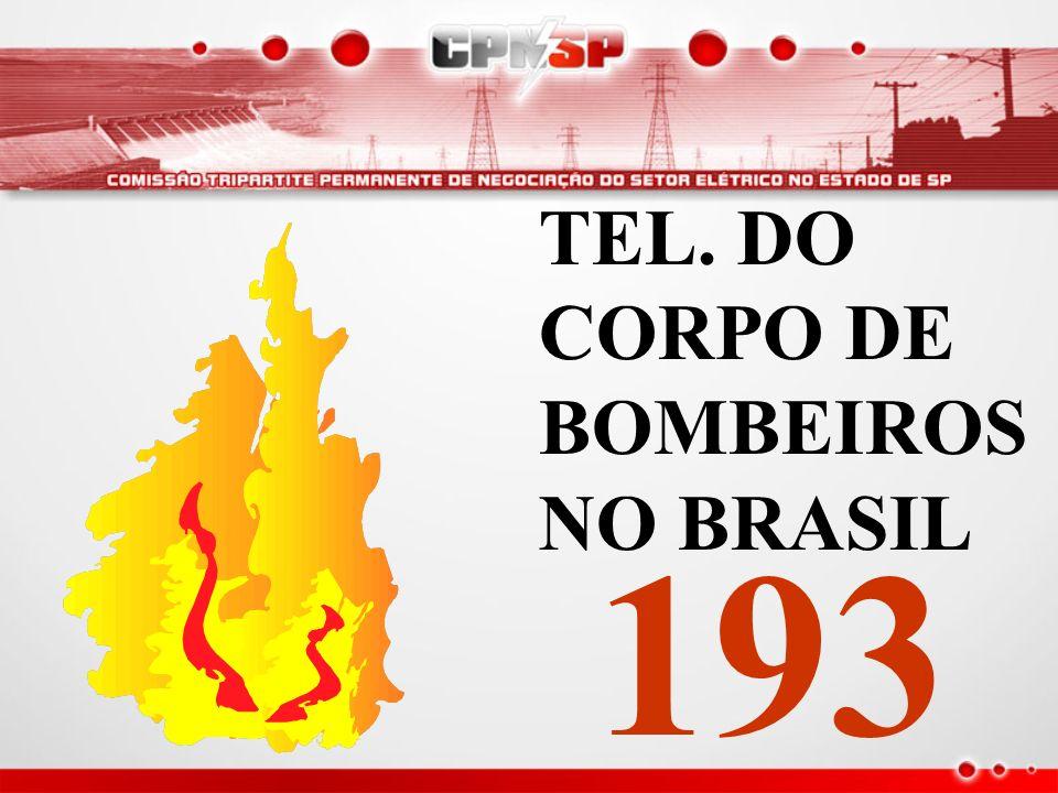 TEL. DO CORPO DE BOMBEIROS NO BRASIL 193