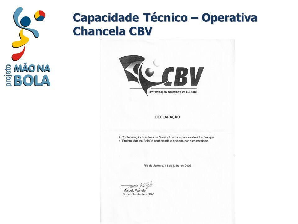 Capacidade Técnico – Operativa Chancela CBV