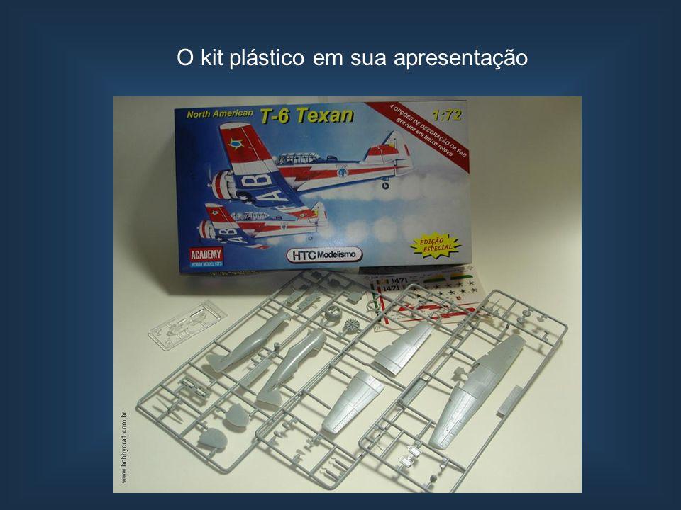 O kit plástico em sua apresentação