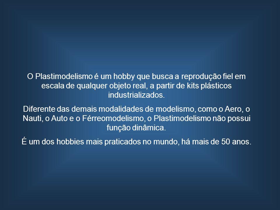 O Plastimodelismo é um hobby que busca a reprodução fiel em escala de qualquer objeto real, a partir de kits plásticos industrializados. Diferente das
