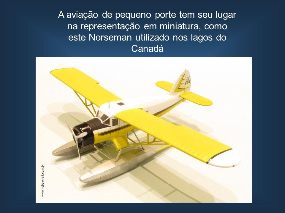 A aviação de pequeno porte tem seu lugar na representação em miniatura, como este Norseman utilizado nos lagos do Canadá