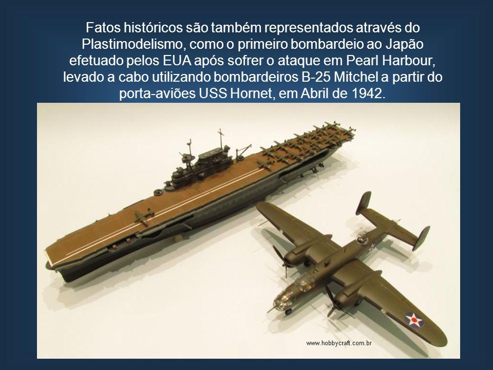 Fatos históricos são também representados através do Plastimodelismo, como o primeiro bombardeio ao Japão efetuado pelos EUA após sofrer o ataque em P
