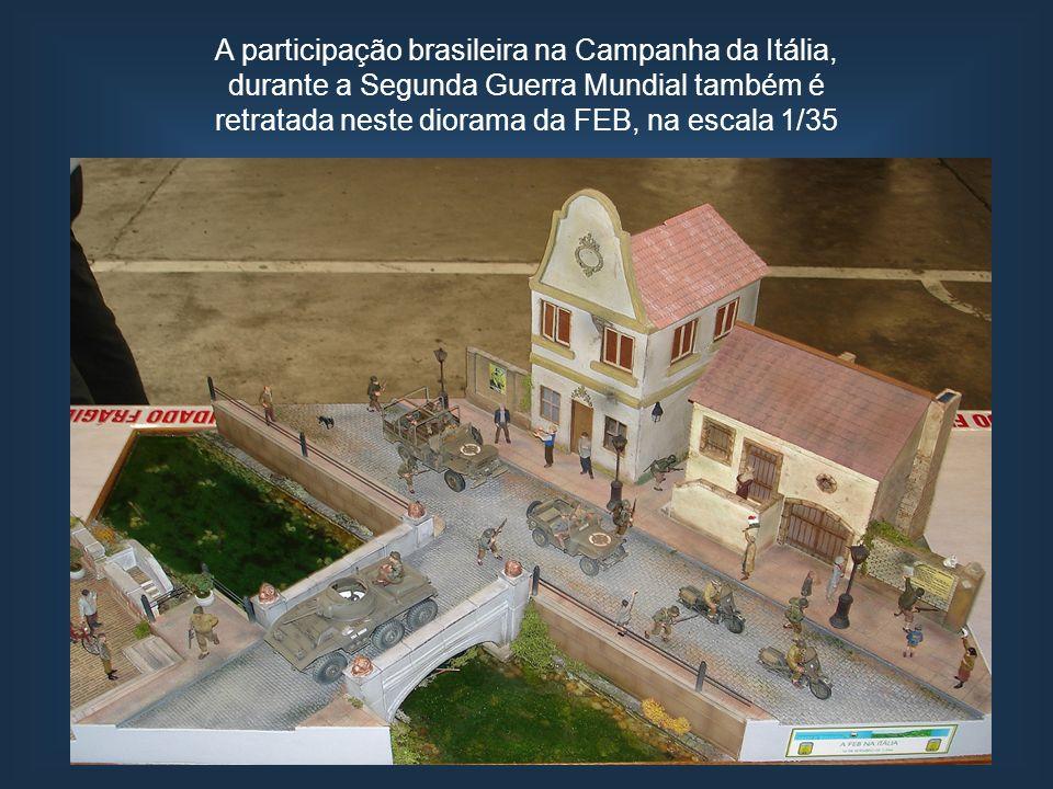A participação brasileira na Campanha da Itália, durante a Segunda Guerra Mundial também é retratada neste diorama da FEB, na escala 1/35