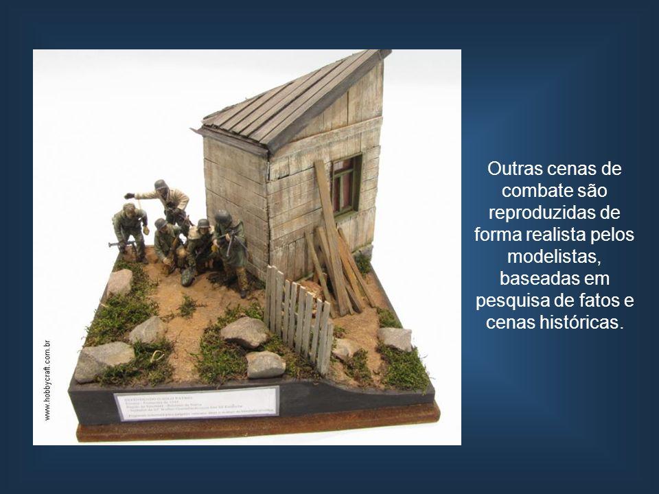 Outras cenas de combate são reproduzidas de forma realista pelos modelistas, baseadas em pesquisa de fatos e cenas históricas.