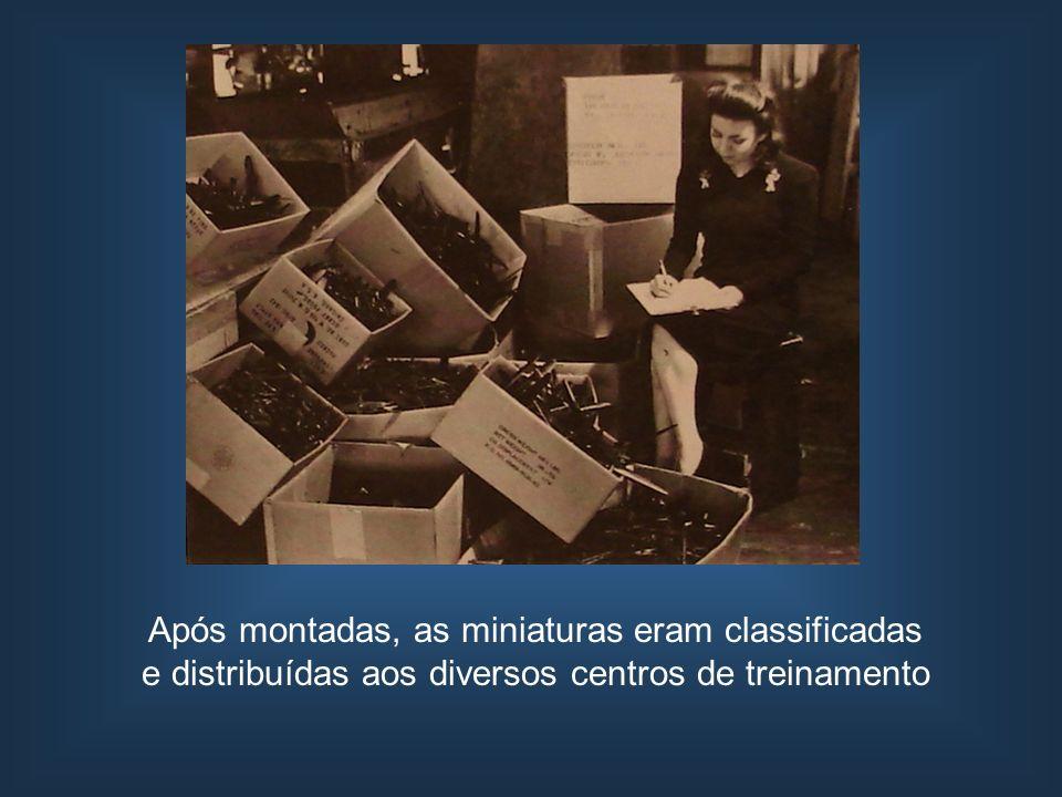 Após montadas, as miniaturas eram classificadas e distribuídas aos diversos centros de treinamento