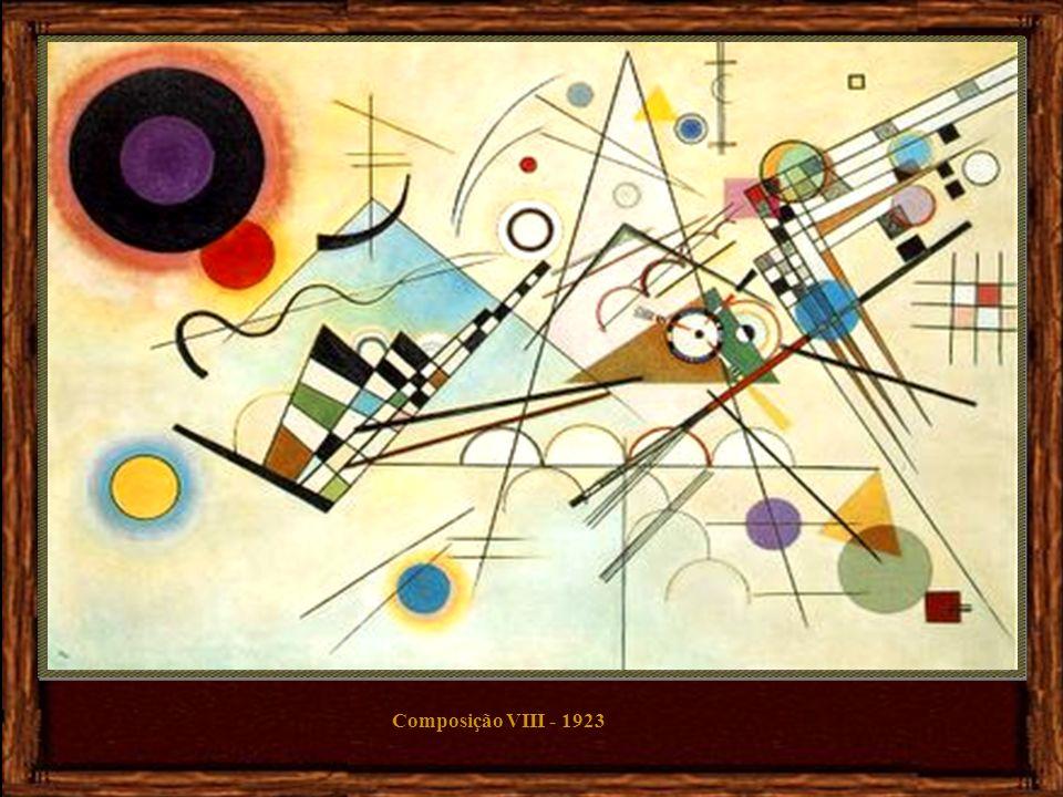 Sobre Branco II - 1923 Em 1908, ao ver a sua pintura pendurada ao contrário, teve a revelação de que os objectos prejudicavam a sua pintura abstracta,