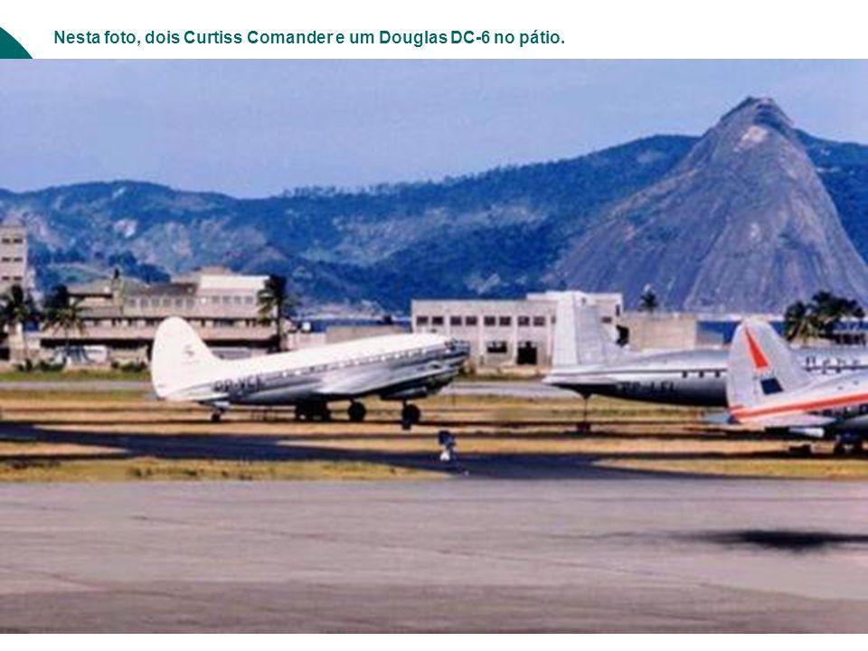 O embarque no DC-3 da Varig. Glamour naqueles tempos.