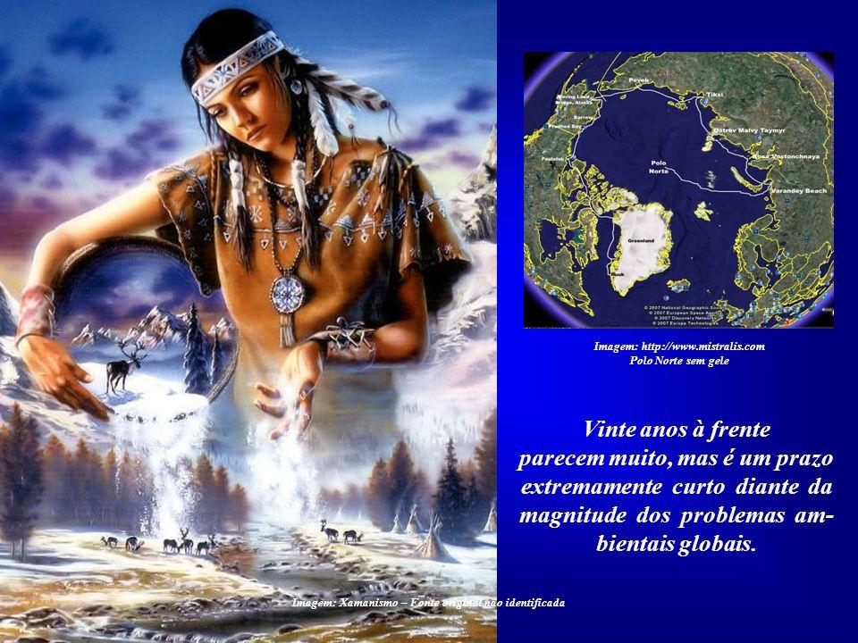 Imagem: http://www.mistralis.com Polo Norte sem gele Previsões nada otimistas indica- vam o ano 2050 como o ponto crí- tico para a nossa civilização.