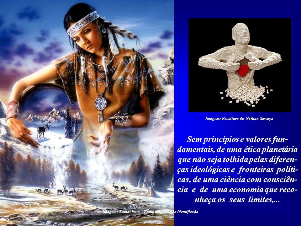Imagem: Escultura de Nathan Sawaya Todas propostas de mudan- ças dos atuais paradigmas deve- rão envolver o âmago do ser hu- mano. Esta é a condição f