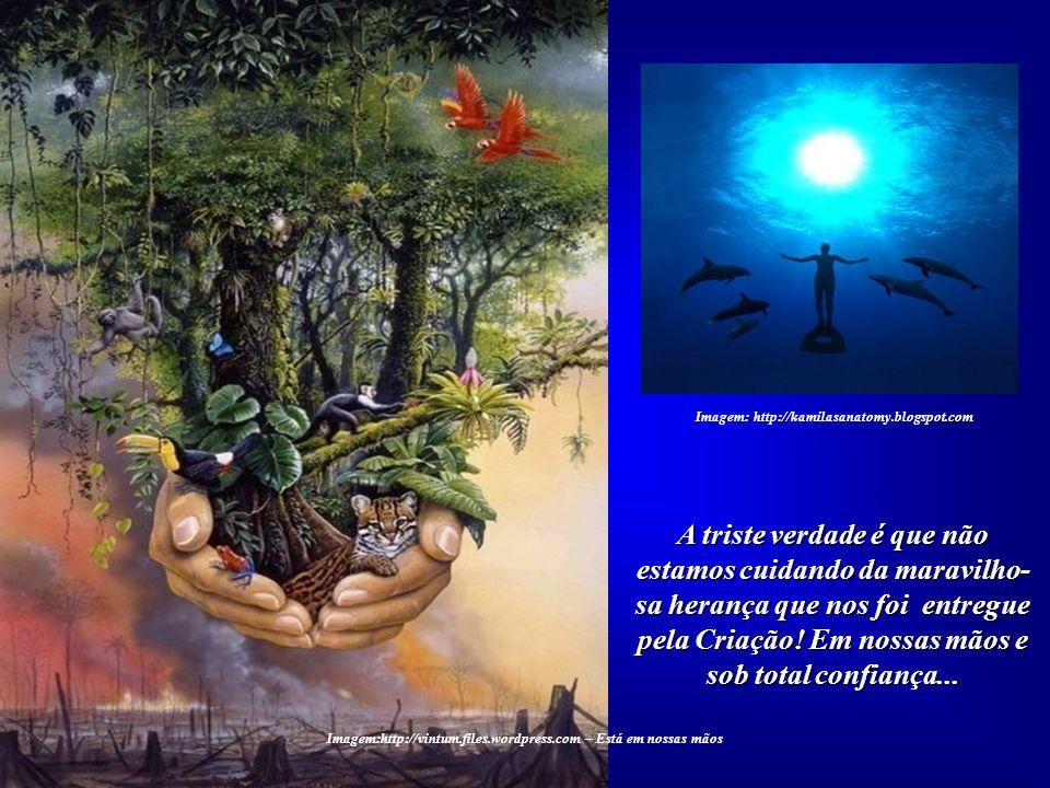 ... pois, em breve, se não alterar o seu procedimento, a Humanidade poderá perder o direito de habitar a Terra. Imagem: Expulsion from Paradise - Raph