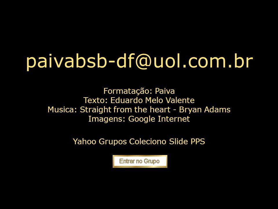 paivabsb-df@uol.com.br Jamais desista de si mesmo.