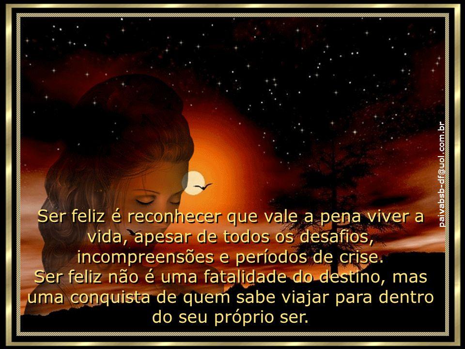 paivabsb-df@uol.com.br Não é apenas comemorar o sucesso, mas aprender lições nos fracassos. Não é apenas ter júbilo nos aplausos, mas encontrar alegri