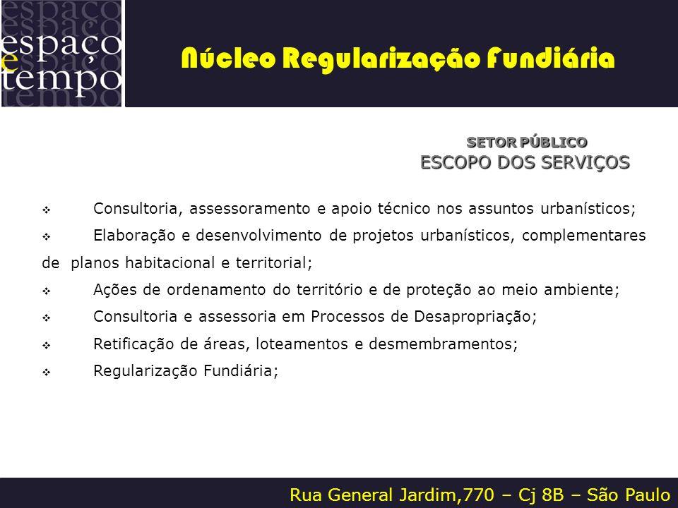 Rua General Jardim,770 – Cj 8B – São Paulo SETOR PÚBLICO SETOR PÚBLICO ESCOPO DOS SERVIÇOS Consultoria, assessoramento e apoio técnico nos assuntos ur