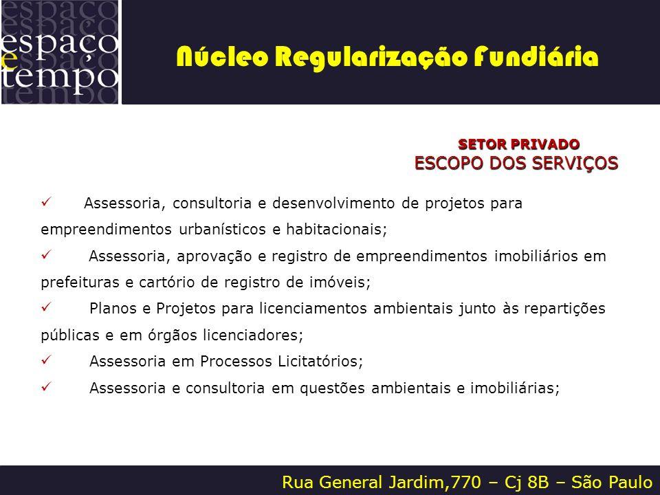 Rua General Jardim,770 – Cj 8B – São Paulo SETOR PRIVADO SETOR PRIVADO ESCOPO DOS SERVIÇOS Assessoria, consultoria e desenvolvimento de projetos para