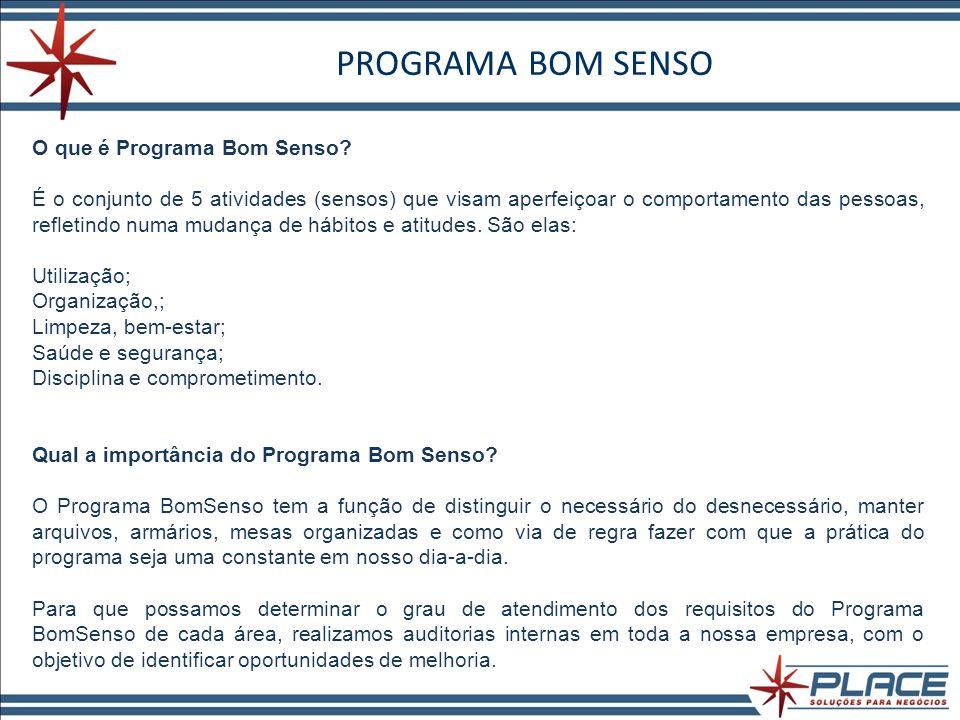PROGRAMA BOM SENSO O que é Programa Bom Senso.