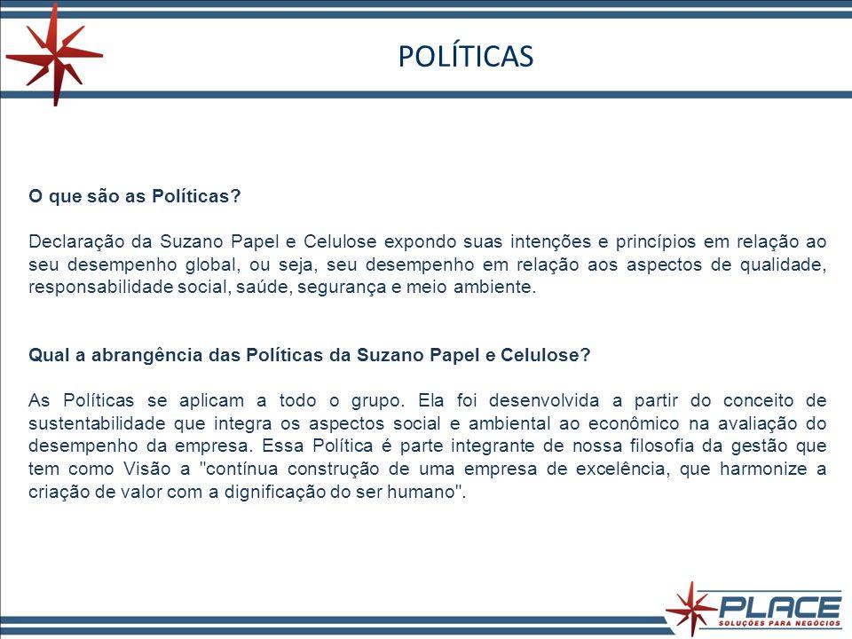 POLÍTICAS O que são as Políticas.