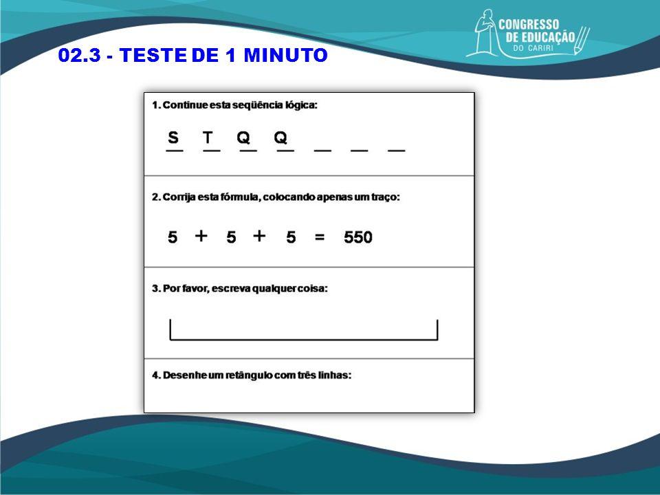 02.3 - TESTE DE 1 MINUTO