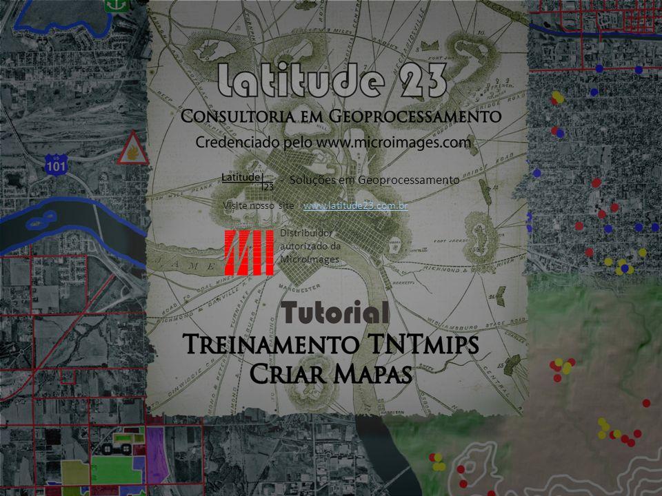 1.Criar um Mapa Impresso e Digital de Layout Básico Clique no ícone Adicionar Texto...