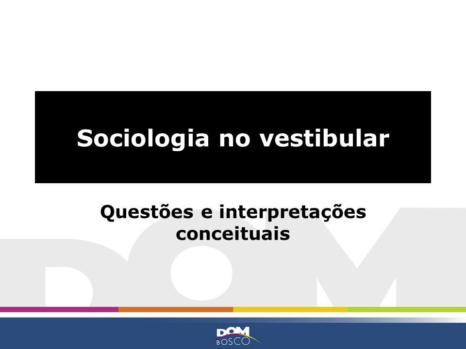 Sociologia no vestibular Questões e interpretações conceituais