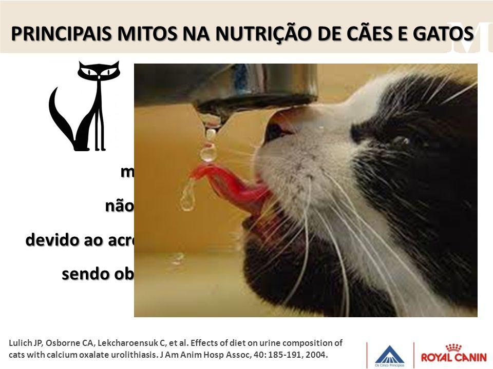 O Na dietético está associado ao O Na dietético está associado ao da excreção de Ca, da excreção de Ca, mas a concentração desse mineral na urina não
