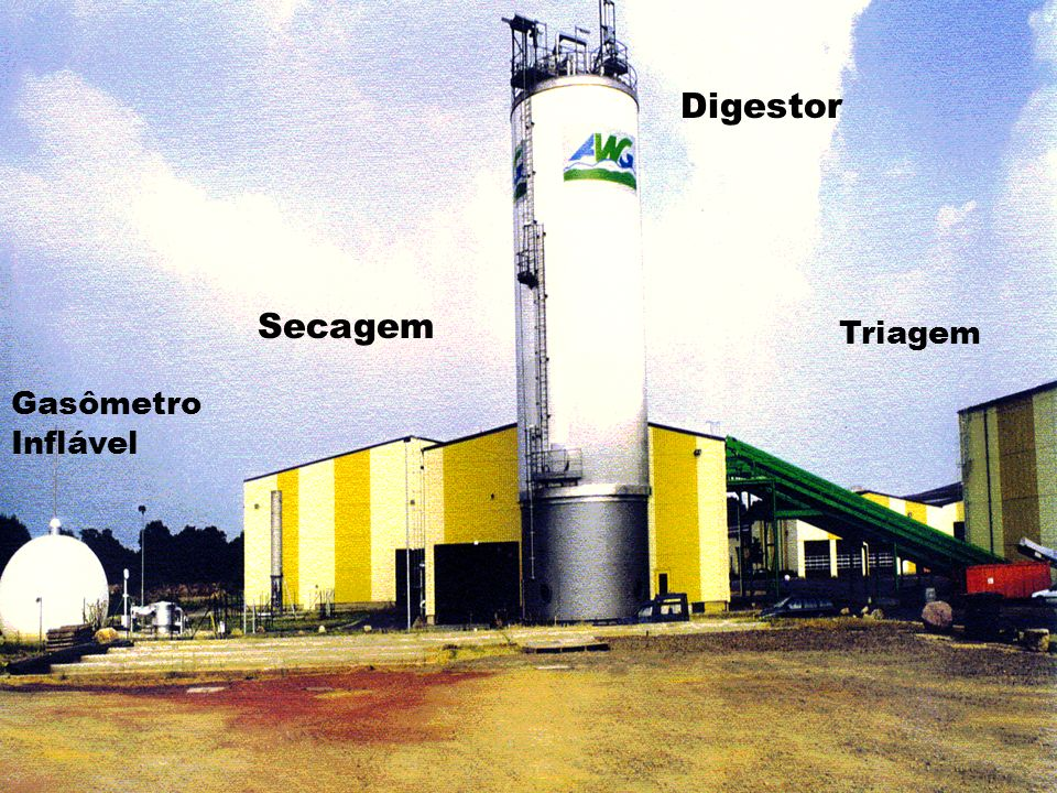 Digestor Triagem Secagem Gasômetro Inflável